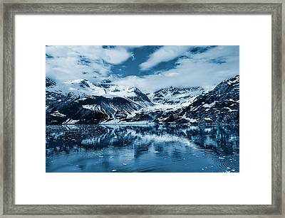 Glacier Bay - Alaska - Landscape - Blue  Framed Print by SharaLee Art