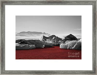 Glacier Blood Framed Print