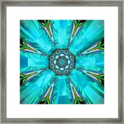 Glacier Blue Framed Print by Wendy J St Christopher