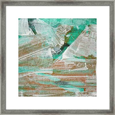 Framed Print featuring the painting Glacier C2013 by Paul Ashby