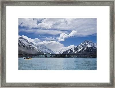 Glacier Explorers Framed Print by Ng Hock How