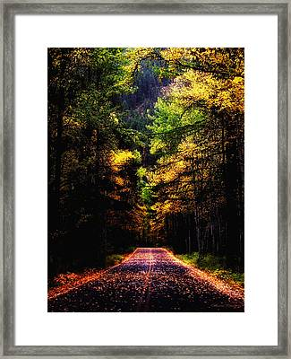 Glacier Fall Road Framed Print