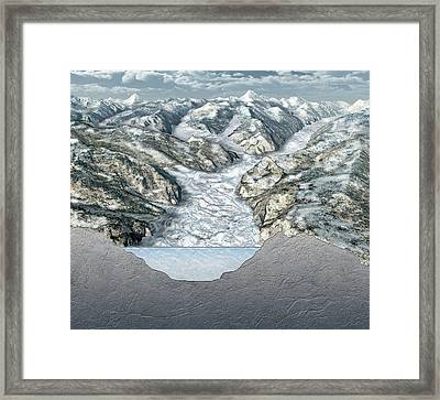 Glacier-filled Kings Canyon Framed Print