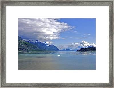 Glacier In Bay  Framed Print
