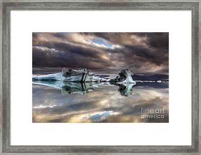 Glacier In Water Framed Print
