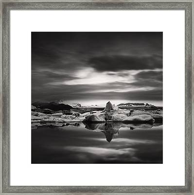 Framed Print featuring the photograph Glacier Lagoon by Frodi Brinks
