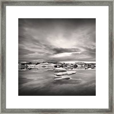 Framed Print featuring the photograph Glacier Lagoon II by Frodi Brinks