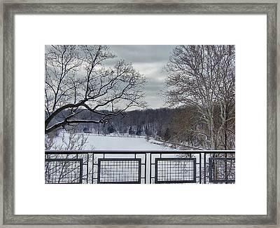 Glacier Lake Framed Print