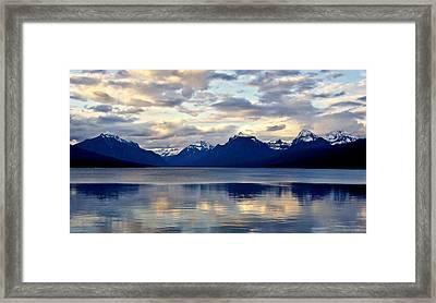 Glacier Morning Framed Print