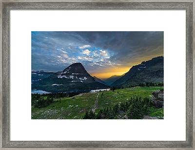 Glacier National Park 3 Framed Print by Larry Marshall