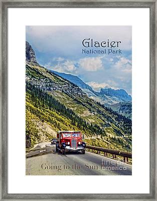 Glacier National Park Framed Print by Jill Battaglia