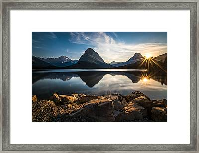 Glacier National Park Framed Print by Larry Marshall