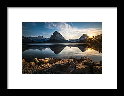 Glacier National Park Framed Prints