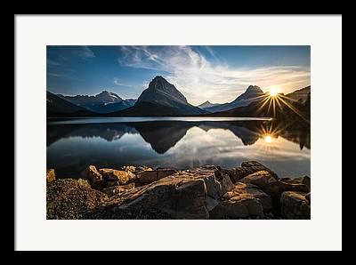 Montana Mountains Framed Prints