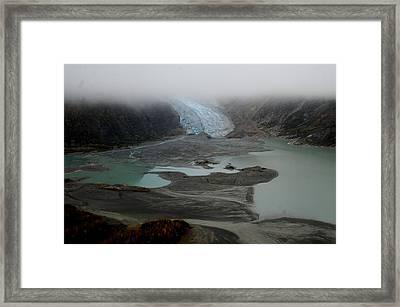 Glacier North Of Juneau Framed Print by Sarah King