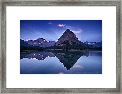 Glacier Park Reflection Framed Print by Andrew Soundarajan