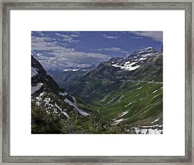 Glacier Path Framed Print