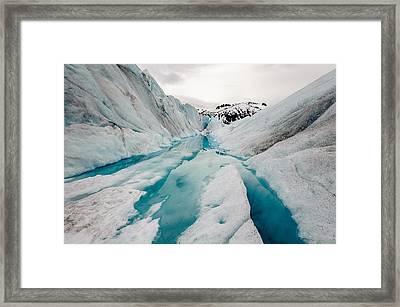 Glacier Pathway Framed Print by Jen Morrison