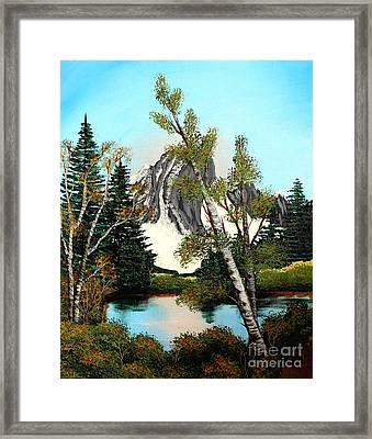 Glacier Peak After Bob Ross Framed Print by Barbara Griffin