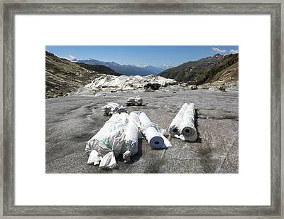 Glacier Protection Framed Print