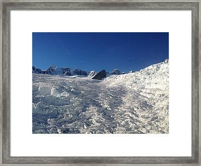 Glacier Framed Print by Ron Torborg