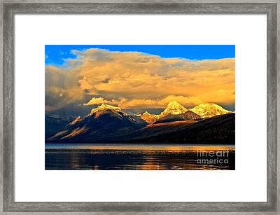 Glacier Snow Caps Framed Print