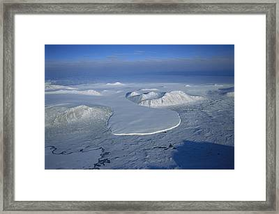 Glacier Spilling Into The Ross Sea Framed Print