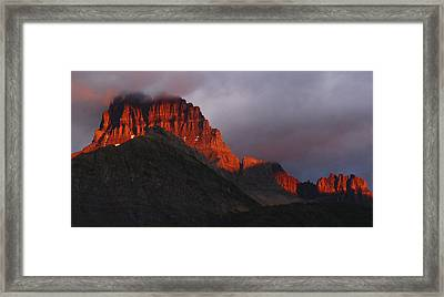 Framed Print featuring the photograph Glacier Sunrise by Alan Socolik