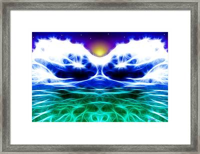 Glacier Sunset Framed Print by Stephen Younts
