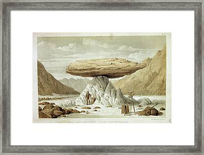 Glacier Table Framed Print