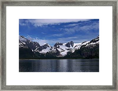 Glacier View Framed Print