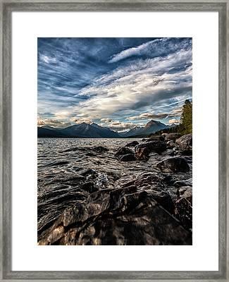 Glacier Whispers Framed Print