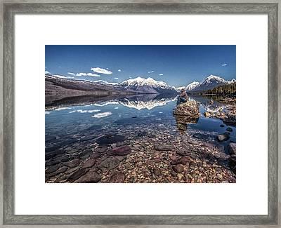 Glacier Zen Framed Print by Aaron Aldrich