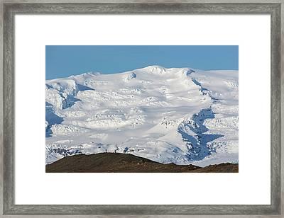 Glacierized Oraefajokull Volcano Framed Print