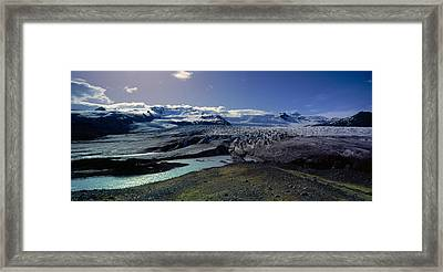 Glaciers In A Lake, Vatnajokull Framed Print by Panoramic Images