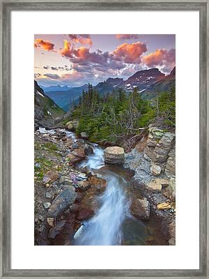 Glaciers Wild Framed Print by Darren  White
