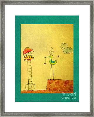 Glad Meeting You Framed Print by Aimelle