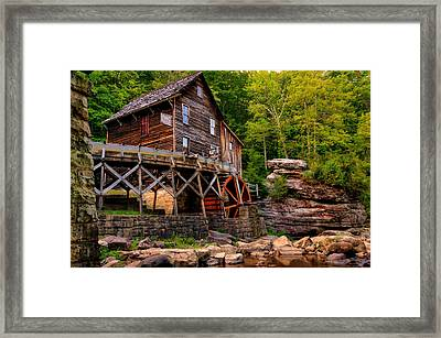 Glade Creek - Cooper's Mill  Framed Print by Gregory Ballos
