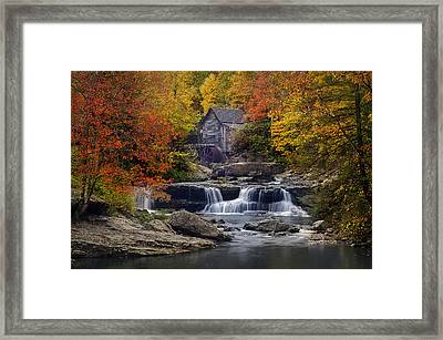 Glade Creek Grist Mill 2 Framed Print