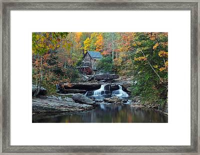 Glade Creek Grist Mill Framed Print by Daniel Behm