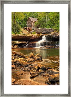 Framed Print featuring the photograph Glade Creek Grist Mill - Layland West Virginia  by Gregory Ballos