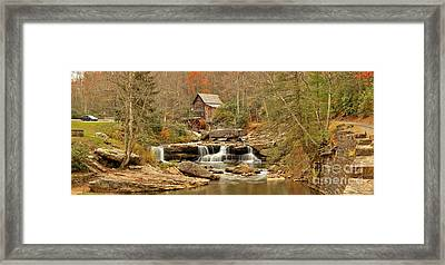 Glade Creek Grist Mill Panorama Framed Print