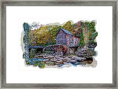 Glade Creek Grist Mill Framed Print by Randall Branham