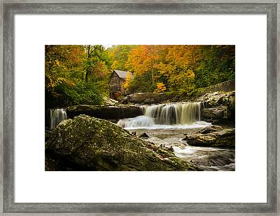 Glade Creek Grist Mill Framed Print by Shane Holsclaw