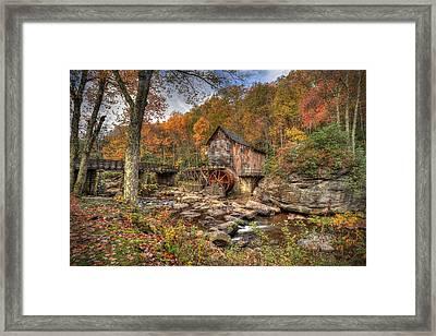 Glade Creek Gristmill Framed Print