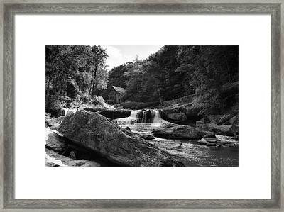 Glade Creek Waterfall Framed Print