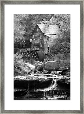 Glade's Mill Black And White Framed Print by Dwight Cook