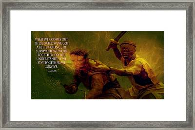 Framed Print featuring the photograph Gladiator  by Brian Reaves