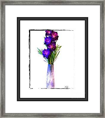 Gladiola Gorgeous Framed Print by Marsha Heiken