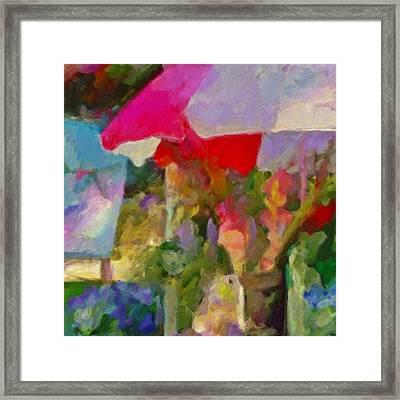 Gladiolas For Sale Roadside - Square Framed Print